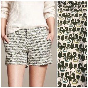 BR Hampton Elephant print shorts canopy green sz 6